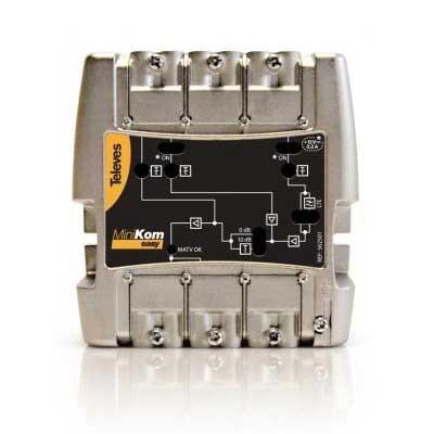 Amplificador TV/SAT MiniKom SMATV 4e/1s EasyF 562601 Televes