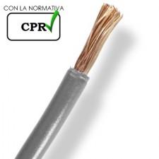 Cable unipolar por metro gris de 2.5mm libre halógenos