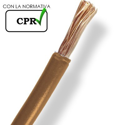 Cable marrón de 4mm libre de halogenos por metros