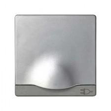 Tapa articulada para enchufe schuko Simon 82090-33 aluminio mate