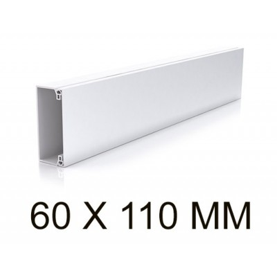 Canaleta blanca unex 30033-2 sin tabique 60x110mm