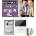 Kit Fermax Way Slim videoportero 1línea 1421