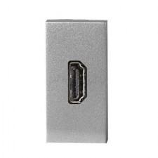 Toma HDMI 1 módulo color plata N2155.7 PL Niessen Zenit