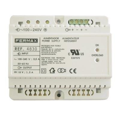 Fuente de alimentación adicional 4830 Fermax DIN6 18V 3.5A