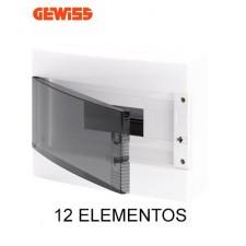 Cuadro eléctrico GEWISS gw40045 superficie puerta transparente