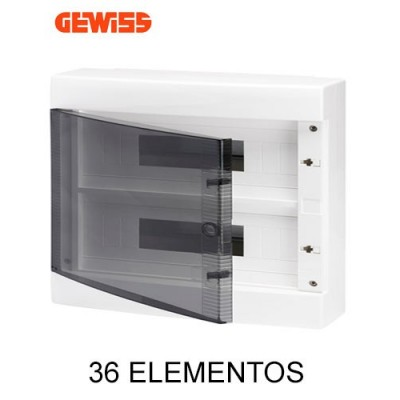 Cuadro eléctrico GEWISS gw40049 superficie puerta transparente