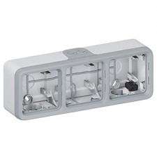 Caja de superficie plexo 3 elementos 069680 Legrand