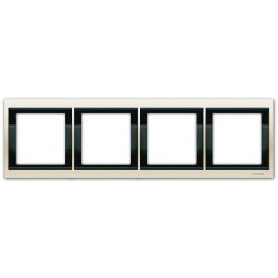 Marco 4 elementos horizontal blanco jazmin 8474.1bl Olas Niessen