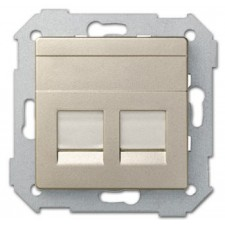 Tapa adaptador doble conexión RJ45 AMP 82006-34 Simon