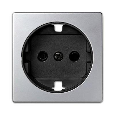 Tapa base enchufe schuko 82041-33 aluminio grafito