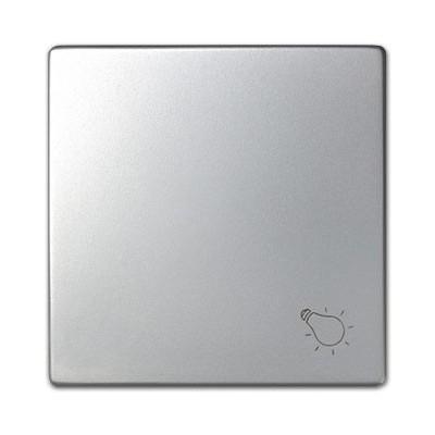 Tecla pulsador simbolo luz Simon aluminio mate 82018-33