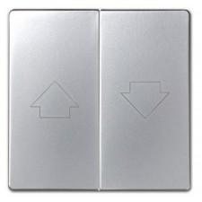 Doble tecla pulsador persianas aluminio mate 82028-33