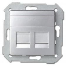 Tapa adaptador doble conexión RJ45 AMP 82006-33 Simon 82