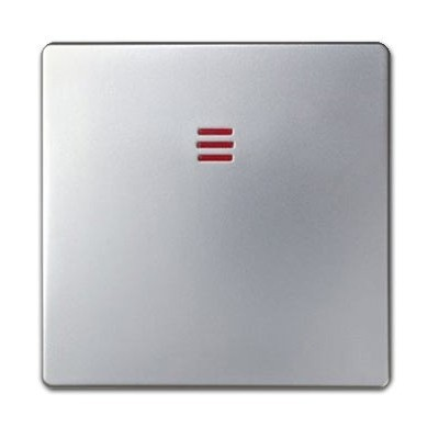 Tecla interruptor pulsador visor 82011-33 aluminio mate