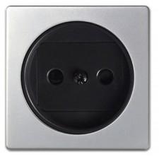 Tapa enchufe sin toma tierra aluminio 82040-33 simon 82