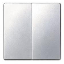 Tecla doble cruzamiento Simon 8202026-033 Aluminio
