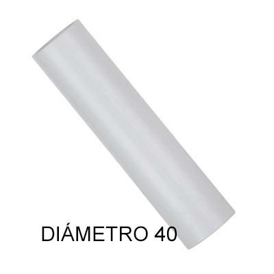 Tubo de PVC 40mm rígido lilbre de halógenos 3m longitud