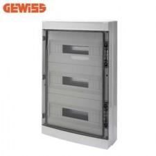 Cuadro eléctrico de superficie 54 módulos GEWISS GW40108 puerta fumé