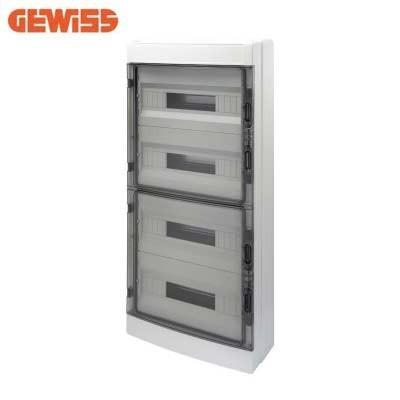 Cuadro eléctrico de superficie 72 módulos GEWISS GW40109 puerta fumé