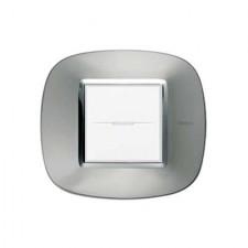 Marco elíptico aluminio axolute BTicino HB4802XC