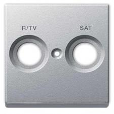 Tapa toma antena TV-SAT schneider MTN299260 aluminio