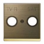Tapa para toma televisión 8550.1 OE Niessen Sky oro