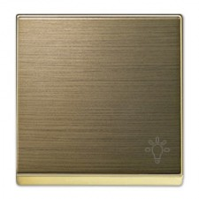 Tecla pulsador símbolo luz Niessen 8504.2 OE Sky oro envejecido