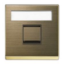 Tapa toma informática con persiana 8518.1 OE Niessen Sky oro envejecido