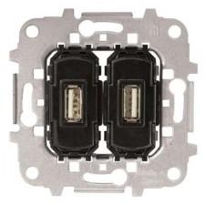 Toma cargador USB doble 2A 5V 8185.3 Niessen