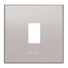Tapa toma cargador USB simple 8585.2 pl Sky Niessen plata