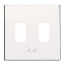 Tapa toma cargador USB doble Niessen 8585.3 bl Sky blanco soft
