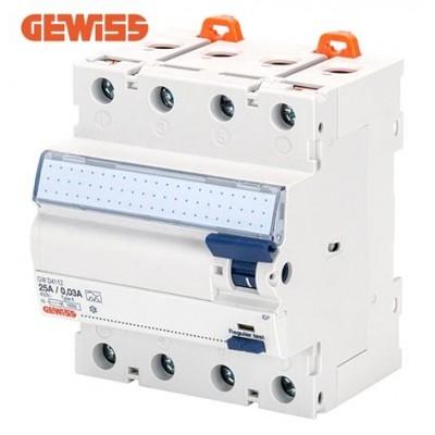 Diferencial inmunizado GEWISS GWD4217 4P 25A clase A-IR