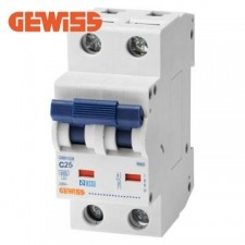 Interruptor automático Gewiss GW91529 1 Polo + Neutro 25a 6ka