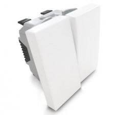 Doble Interruptor Efapel 45061 SBR Quadro 45 color blanco