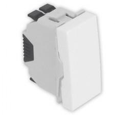 Pulsador Efapel 45161 SBR estrecho Quadro 45 color blanco