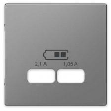 Tapa cargador USB doble schneider MTN4367-6036 Aluminio dlife