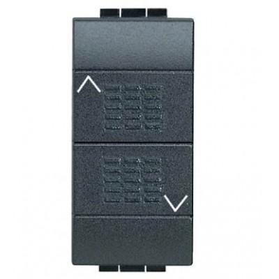 Conmutador doble enclavamiento persianas Livinglight BTicino L4027