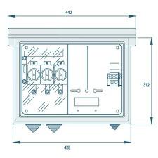 Armario de medida trifásico Pinazo 313038 PNZ-CPM-1ME UF