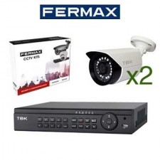 Kit videovigilancia CCTV 2 cámaras exterior TVI 9909 Fermax