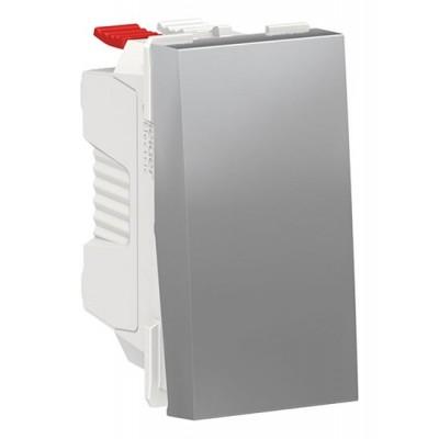 Cruzamiento Conmutador Schneider NU310530 New Unica Aluminio
