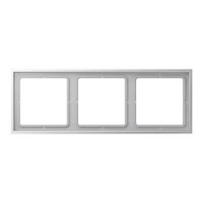 Marco 3 elementos aluminio lacado Jung LSZAL983BF LS Zero