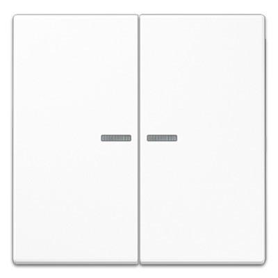 Tecla interruptor pulsador doble visor ls990 jung ls995ko5ww blanco