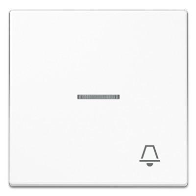 Tecla pulsador con visor simbolo timbre blanco ls990 jung ls990ko5kww