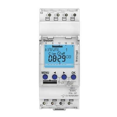 Interruptor horario digital 2 canales Theben TR 610 top3 6120130