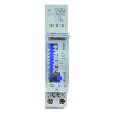 Interruptor horario analógico Theben 1800001 SUL180 con reservaA