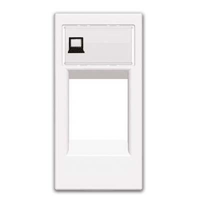 Tapa conector informatico rj45 Niessen Zenit n2118.1bl blanco