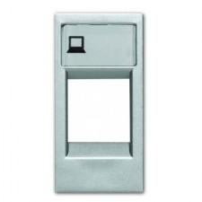 Tapa soporte conector rj45 n2118.1pl zenit plata niessen