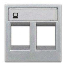 Tapa 2 conectores rj45 n2218.2pl serie zenit plata niessen