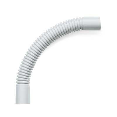 Curva de empalme flexible 25mm PVC canalización