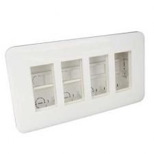 Puesto de trabajo eléctrico empotrable 3x4 módulos 83402 SBR EFAPEL